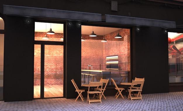 Фасад кафе-магазина