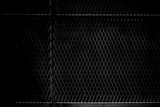Cage metal net in the dark