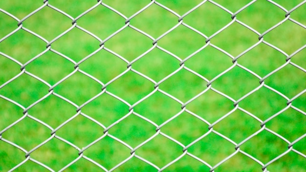 Cage metal net front the lawn