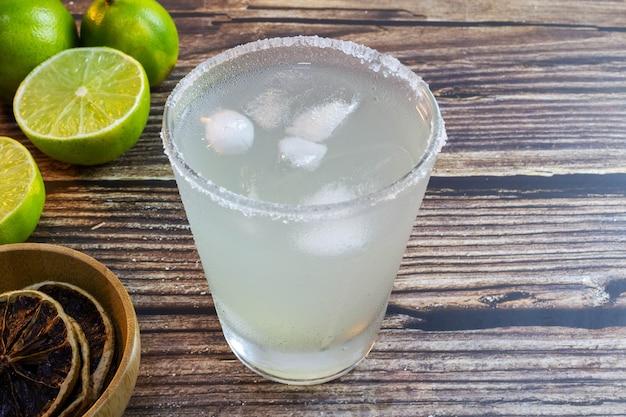 Caipirinha a typical brazilian lemon drink selective focus