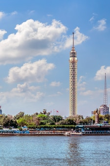 Cairo tower sunlit
