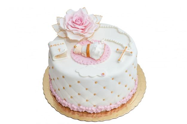 赤ちゃんのバプテスマのためのケーキ。