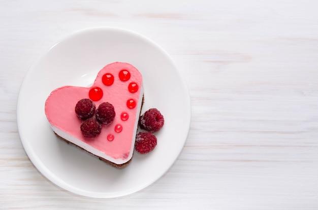ハートの形のケーキ