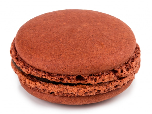 Cake macaron or macaroon isolated, sweet and colorful dessert