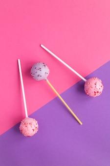 Cake pops with sprinkles