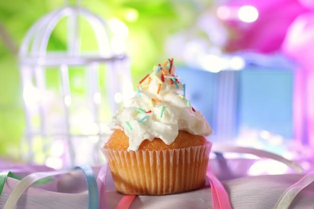 Cake with buttercream celebration