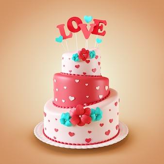 Торт с сердечками день святого валентина