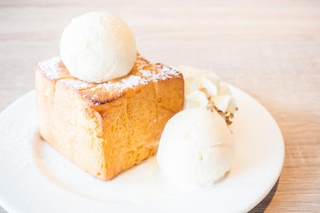 アイスクリームとケーキ