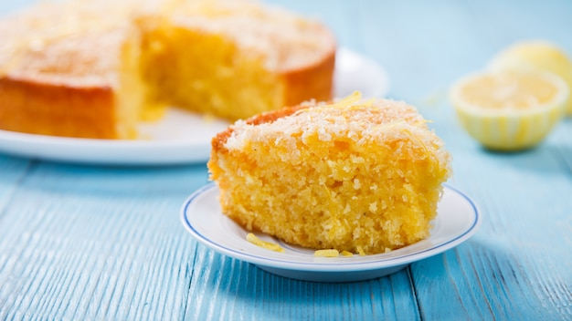 Cake with lemon and coconut.homemade cakes