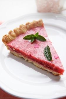 민트와 하트 딸기 젤리 케이크
