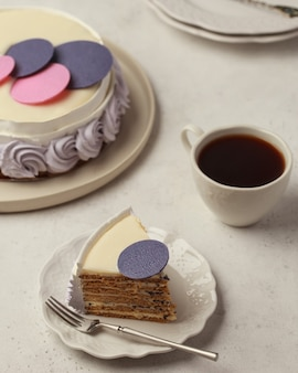 Cakes on table