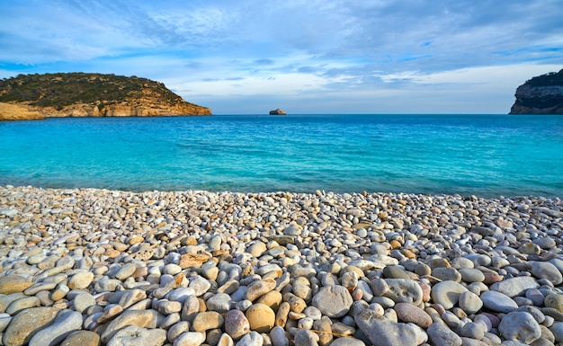 Cala barraca beach in xabia javea of alicante