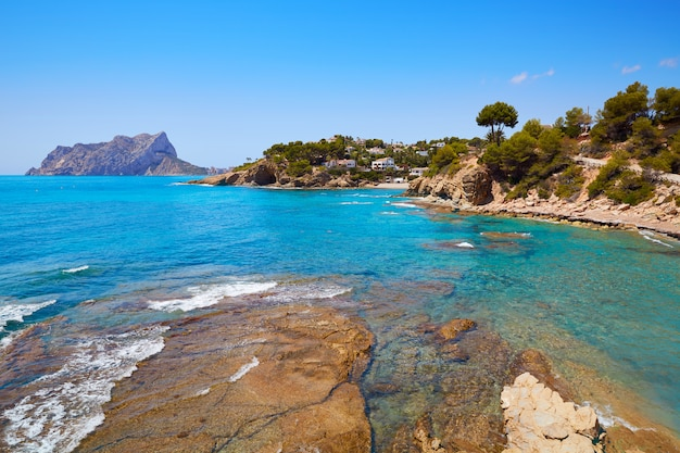 Cala pinets beach in benissa alicante spain