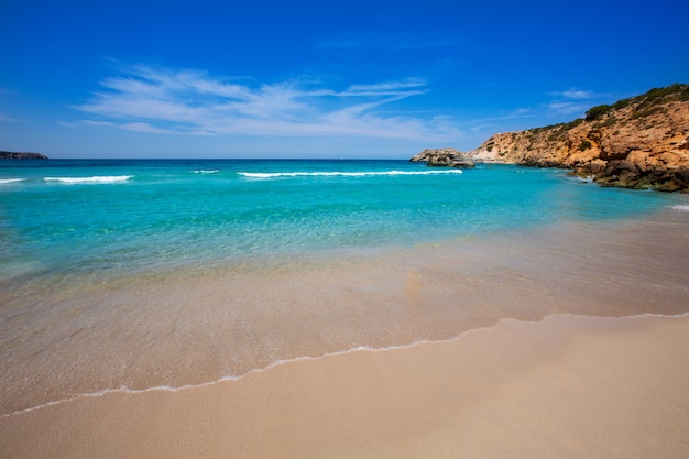 Cala tarida in ibiza beach at balearic islands Photo