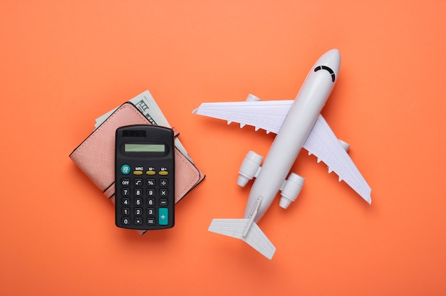 Calculation of the cost of flight and vacation.