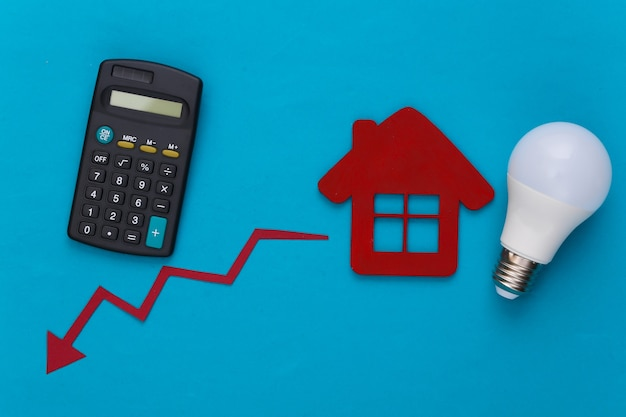 Calculation of electricity costs. save your money concept.