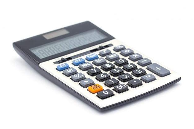Calculator isolated, close up button calculator