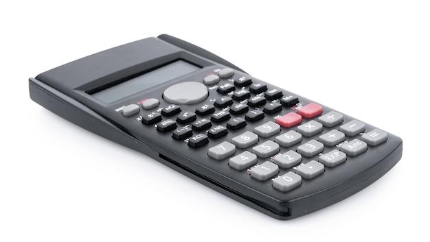 Калькулятор, изолированные на белом фоне