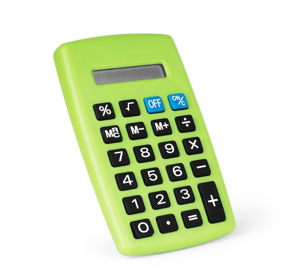 Калькулятор, изолированные на белом фоне.