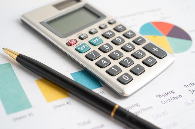 グラフ用紙の計算機金融開発銀行口座統計投資