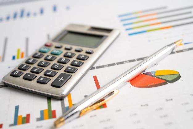 グラフ用紙の計算機金融開発銀行口座