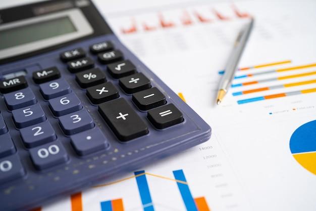グラフ用紙の計算機財務開発