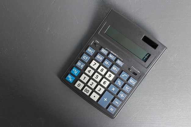 Calculator on the table