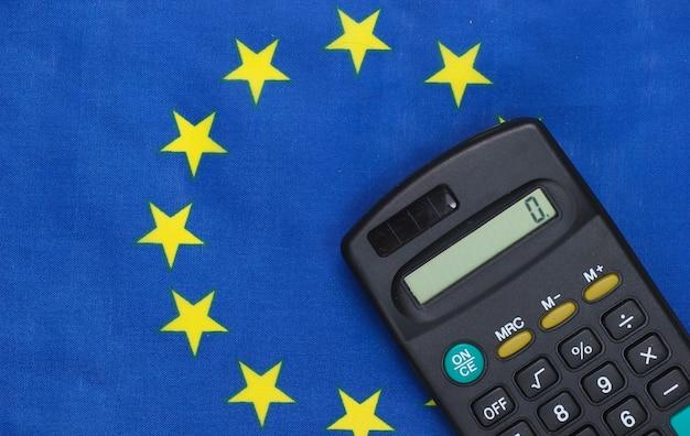 Калькулятор с флагом евросоюза.