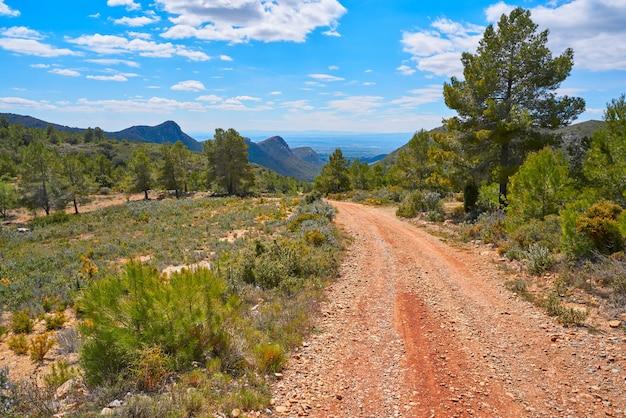 Calderona mountain in valencia spain