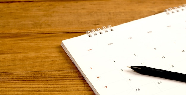 Calendar of appointments for planning in advance, work, birthdays, travel