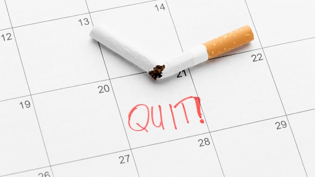Calendar date to quit smoking