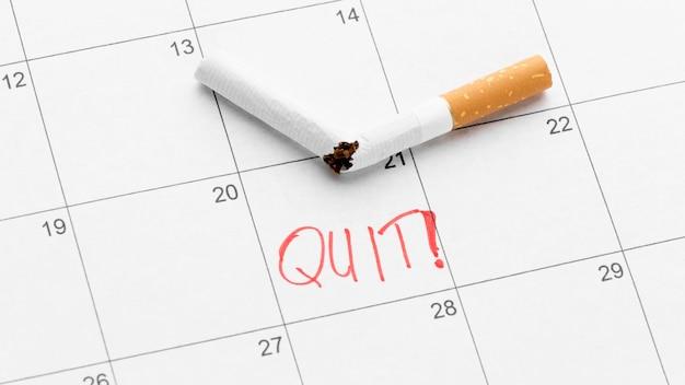 Data del calendario per smettere di fumare