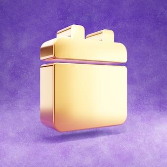 紫のベルベットで隔離のカレンダーアイコン