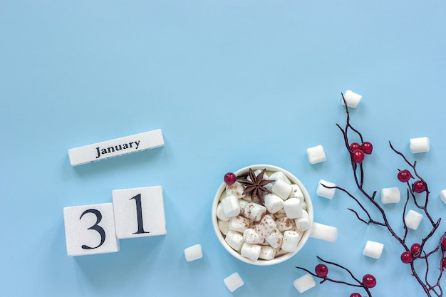 Calendar january 31 cup of cocoa