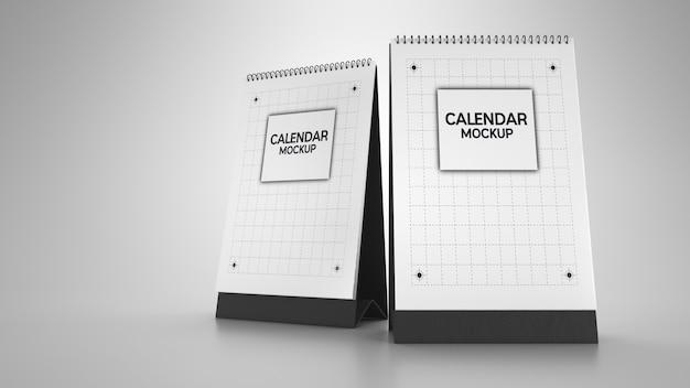 Макет календаря. 3d визуализация и иллюстрации.
