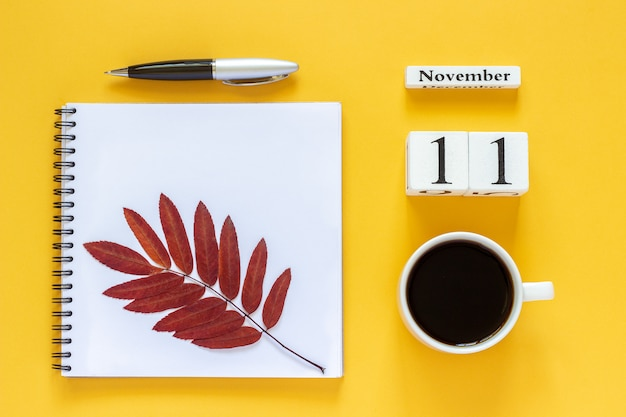 Calendar november 11 cup of coffee