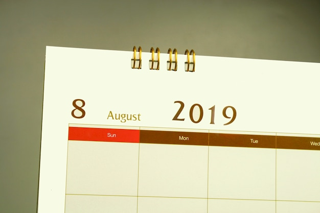 Calendar page of month