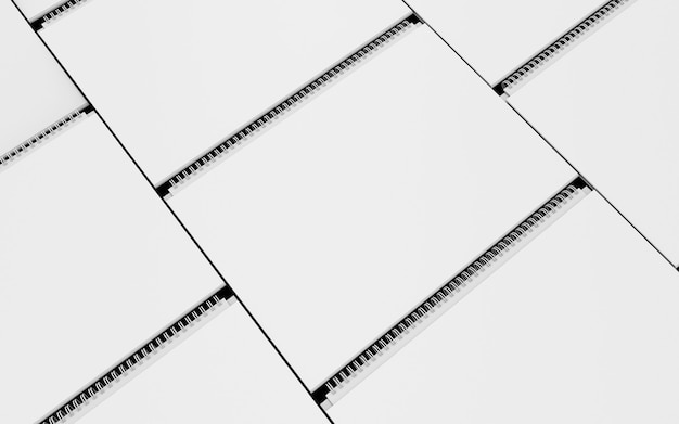 Calendar white cover mockup set 3d illustration corporate gift blank design empty posm render