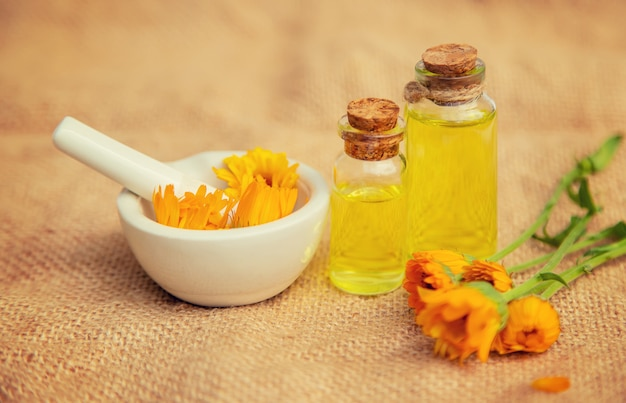The calendula extract. medicinal plants.