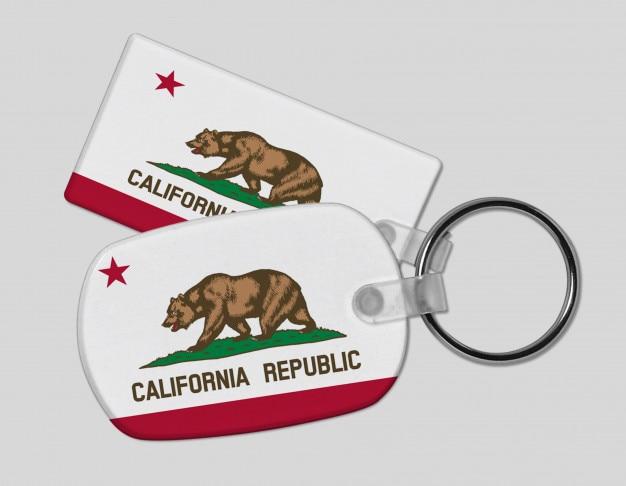 California republic keyring - holiday and vacation