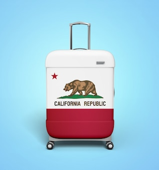 California suitcase - vacation