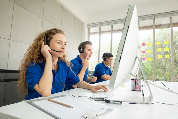 Call center service concept