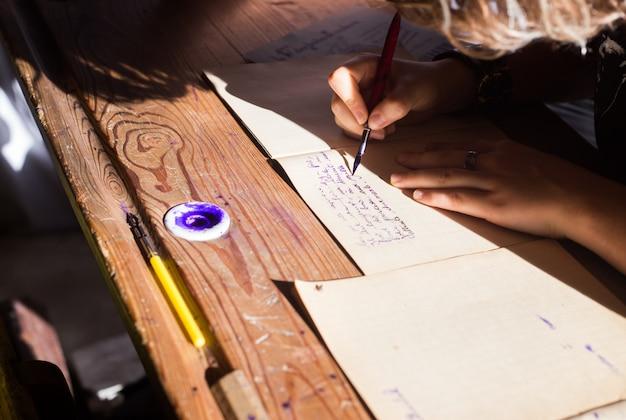 Lezione di calligrafia