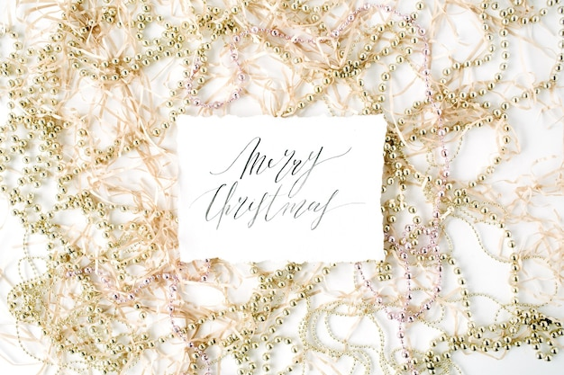 書道の言葉メリークリスマスとクリスマス見掛け倒しの装飾。
