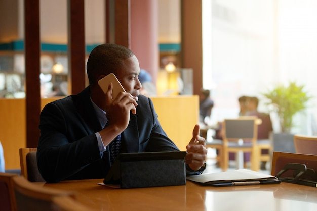 Calling businessman