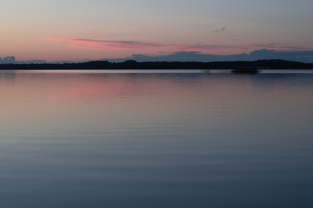 Calm evening over the lake of lough owell, midlands of ireland naer mullingar town.