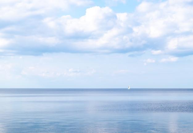 Calm sea bright summer day