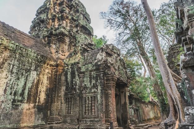 Храм камбоджи ангкор ват та пром