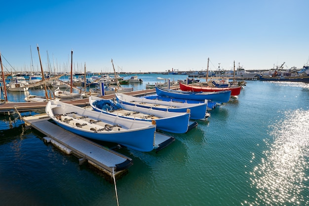 Cambrils port marina in tarragona catalonia