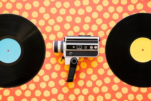 Camcorder between vinyls